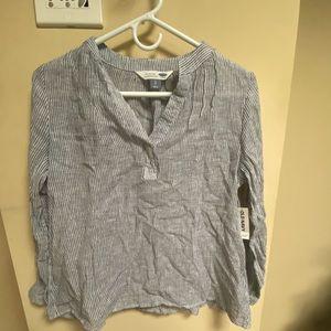Blue & white stripped tunic shirt